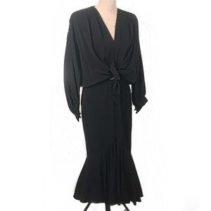 Lovely vintage black mermaid dress